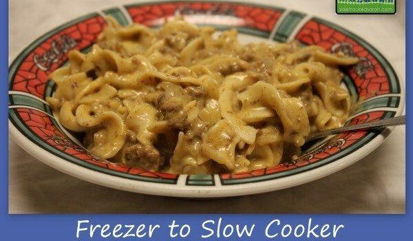 Beef Stroganoff (Freezer to Crockpot Meal)