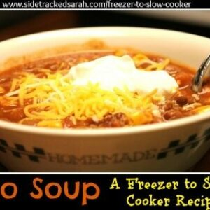 Taco Soup (Freezer to Crockpot)