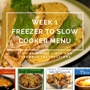 Once a Week Cooking from Freezer to Crockpot