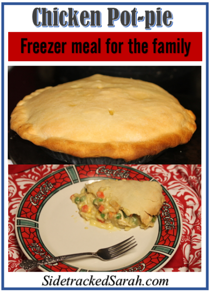 Chicken Pot-pie Freezer meal for the family