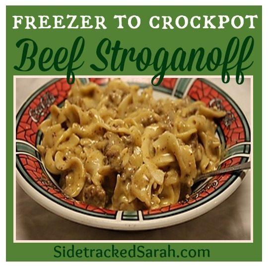 Beef Stroganoff - freezer to crockpot