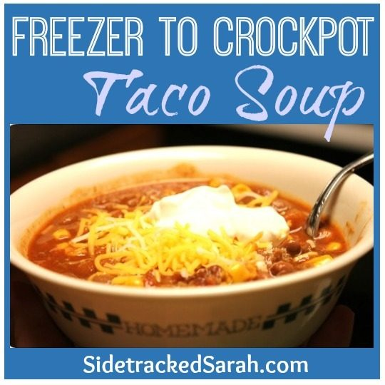 Freezer to Crockpot - Taco Soup