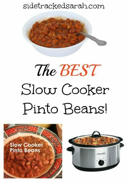 The Best Slow Cooker Pinto Beans Recipe!  - SidetrackedSarah.com