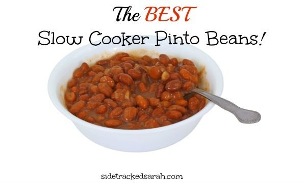 The BEST Slow Cooker Pinto Beans Recipe!