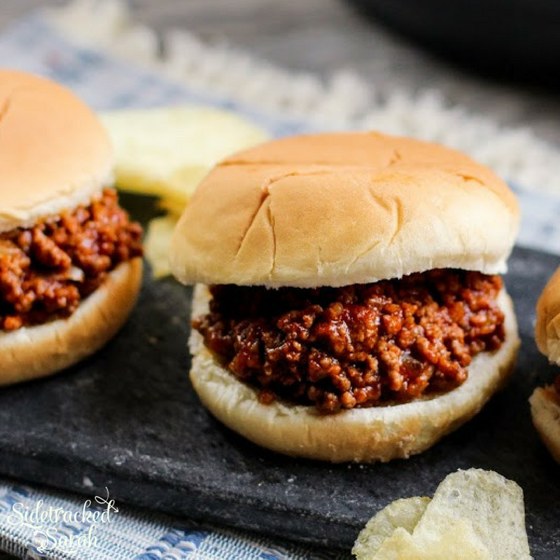 Simple Crock Pot Sloppy Joes