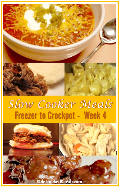 Slow Cooker Meals - week 4