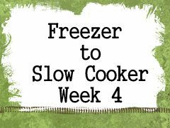 Using Your Slow Cooker – Week 4 Recipes, Shopping List