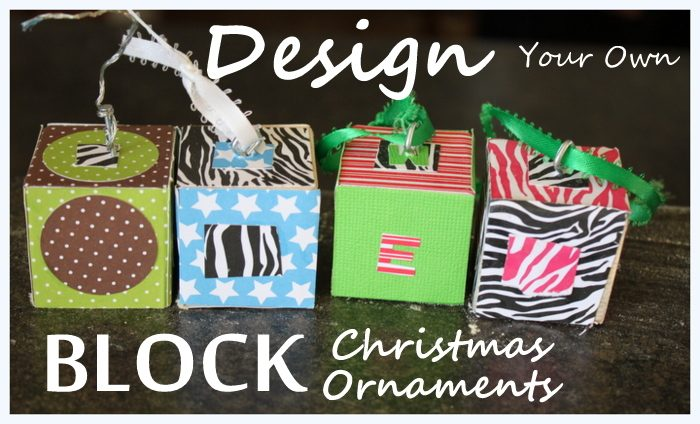 Design Your Own Wooden Block Christmas Ornaments