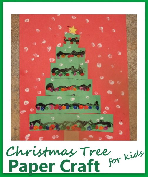Christmas Tree Paper Craft for Kids