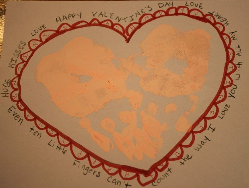 A Preschool Valentine – Handprint Valentine's Day Craft