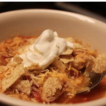 Slow Cooker Enchilada Soup - Sidetracked Sarah