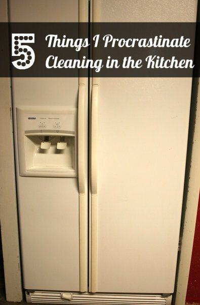5 Things I Procrastinate Cleaning in the Kitchen