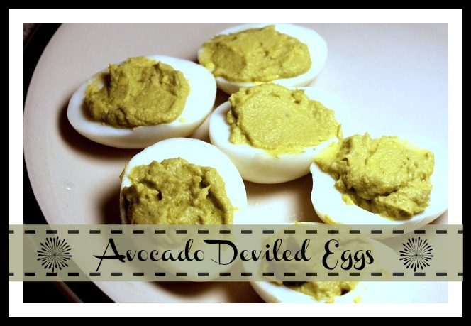 Healthy Avocado Deviled Eggs w/o the Mayo - Sidetracked Sarah