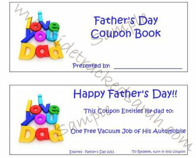 Free Printable Father's Day Coupon Book | Sidetracked Sarah