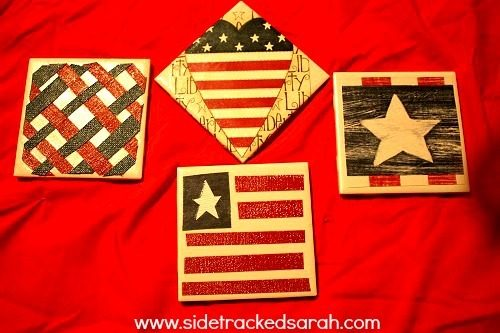 How to Make Coasters:  Patriotic Style + $80 Cash Giveaway!