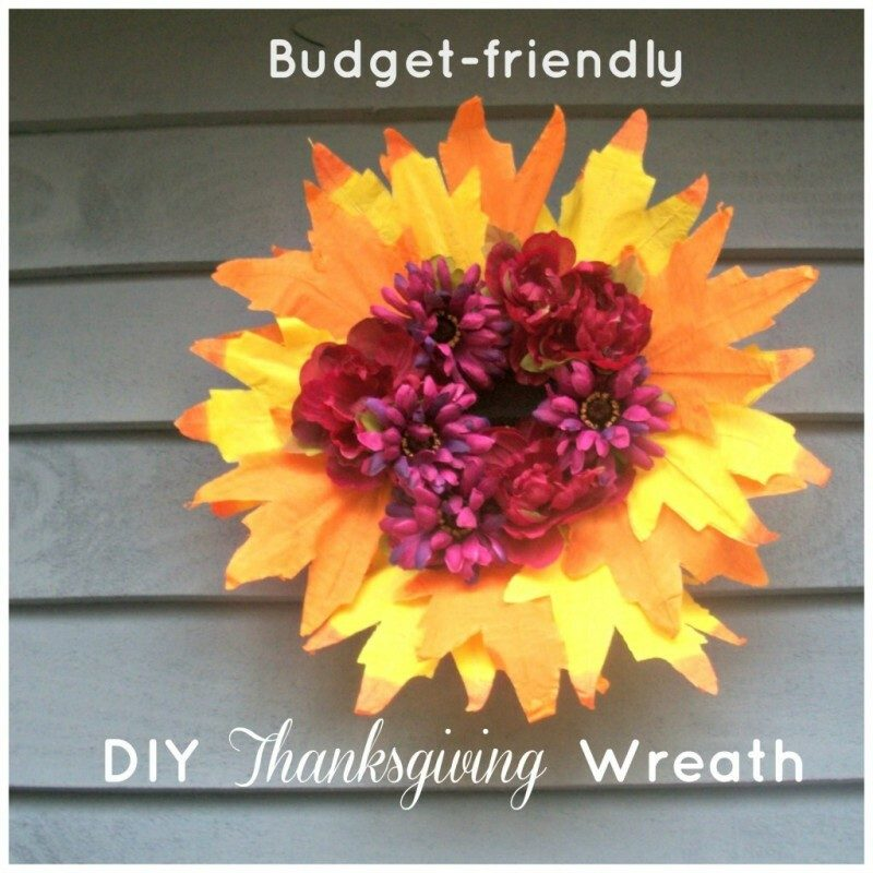 Budget-Friendly DIY Thanksgiving Wreath