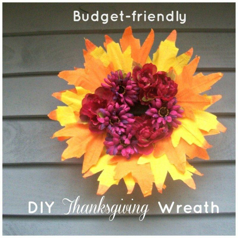 Budget-Friendly DIY Thanksgiving Wreath