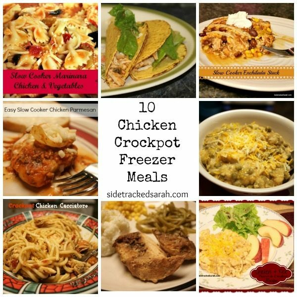 10 Chicken Crockpot Freezer Meals