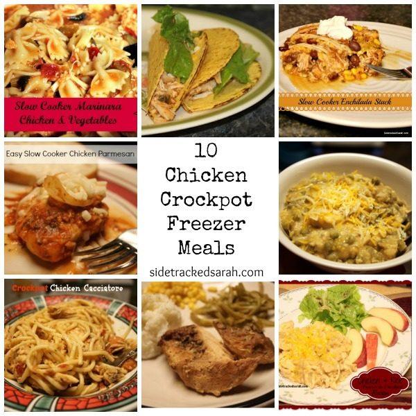 10 Chicken Crockpot Freezer Meals