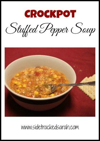Crockpot Stuffed Pepper Soup - Sidetrackedsarah.com