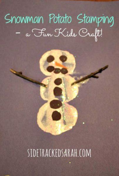 Snowman Potato Stamping