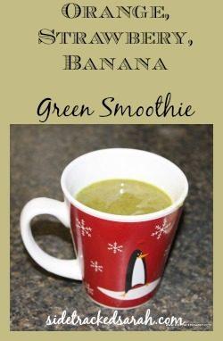 Orange Strawberry Banana Green Smoothie Recipe