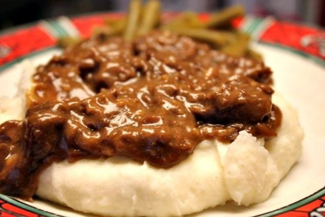 Slow Cooker Beef Tips & Gravy - SidetrackedSarah.com
