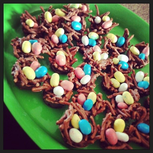 Bird's Nest Cookies for Easter