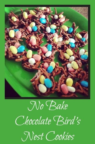 Chocolate Bird's Nest Cookies