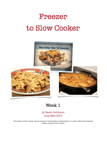 Crockpot Freezer Meals Week 1