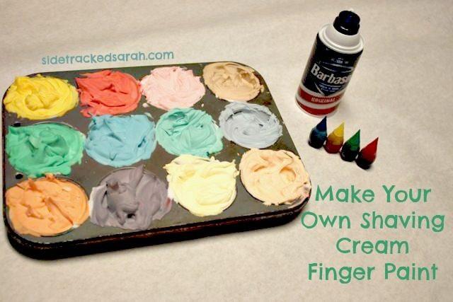 How to make shaving cream finger paint sidetracked sarah for Shaving cream paint