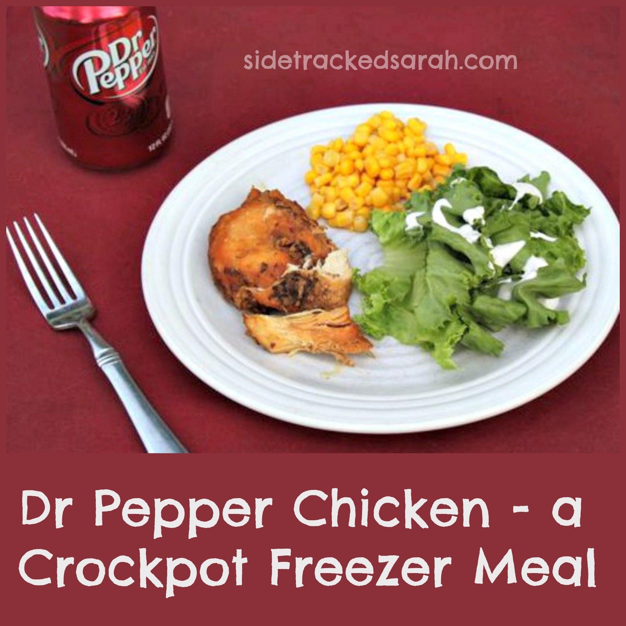Dr. Pepper Chicken - A Crockpot Freezer Meal