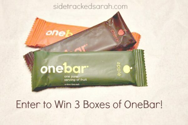 Enter to Win:  3 Boxes of OneBar (40 Winners!)