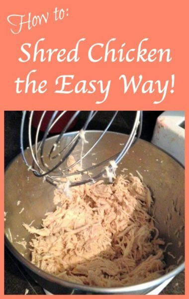 How to Shred Chicken the Easy Way - Life Hacks on Sidetracked Sarah