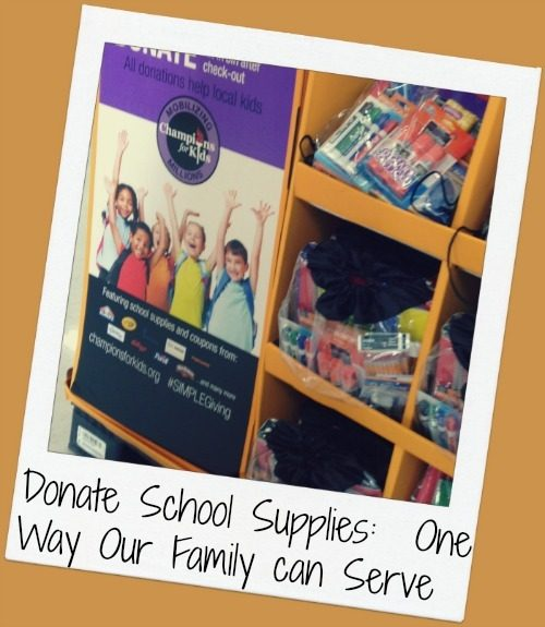 Donate School Supplies - One Way Our Family Can Serve
