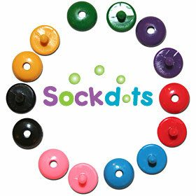 Sock Dots for sorting Mismatched Socks