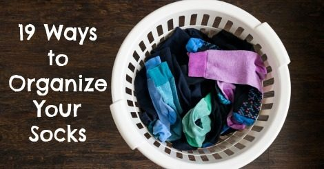 19 Ways to Organize Your Socks - 52 Week Organized Home Challenge