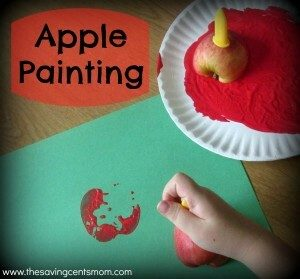 Apple Painting:  A Fun Fall Activity for Children
