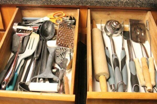 Organized Utensil Drawers