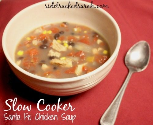 Slow Cooker Santa Fe Chicken Soup - SidetrackedSarah.com