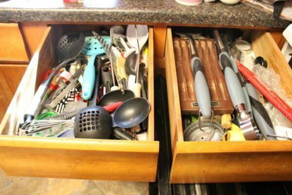 Organizing my utensil drawers
