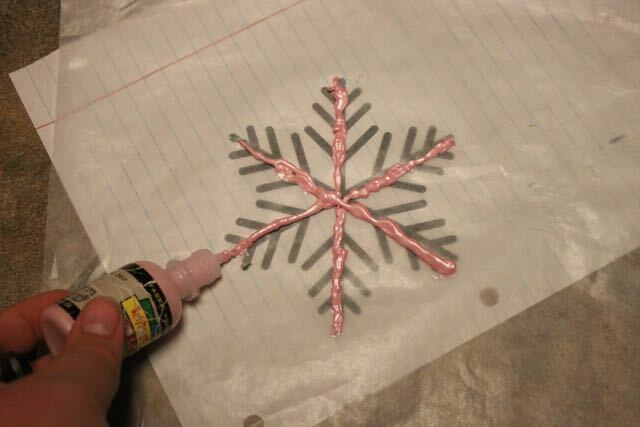 How to Make Snowflake Window Clings Out of Fabric Paint