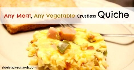 Any Meat, Any Veggie, Crustless Quiche
