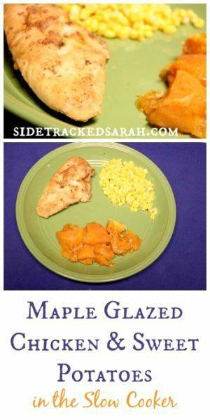 Maple Glazed Chicken & Sweet Potatoes in the Slow Cooker - SidetrackedSarah.com
