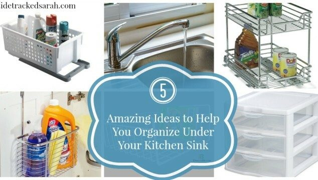5 Amazing Ideas to Help you Organize Under Your Kitchen Sink!