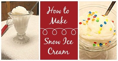 How to Make Snow Ice Cream Recipe