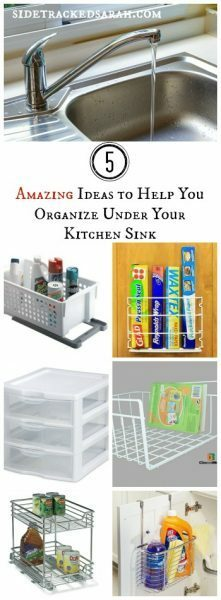 5 Amazing Ideas for Organizing Under Your Sink!  - SIdetrackedSarah.com