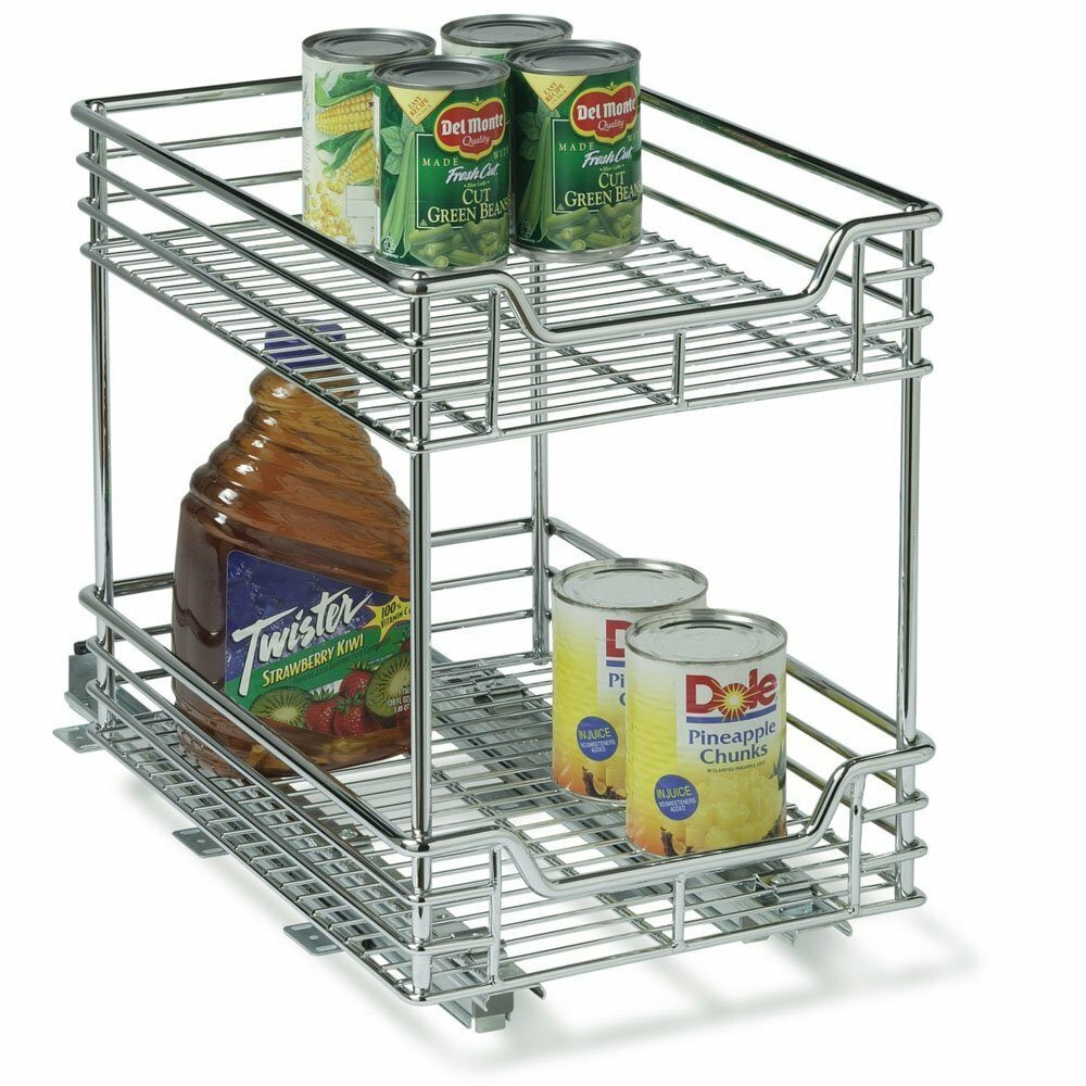 2 Tier Sliding Basket