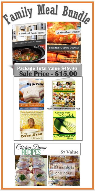 Family Meal Bundle - almost $50 value only $15