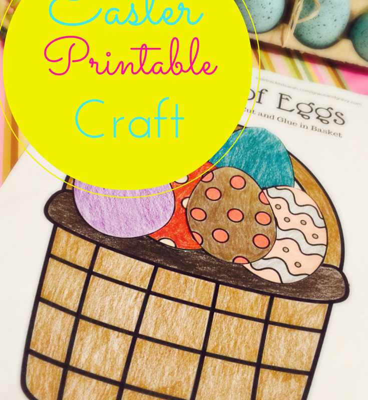 "Basket of Eggs ""Easter"" Craft Printable"